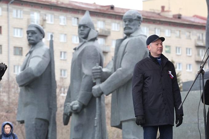 Холодный Первомай 2019 в Новосибирске