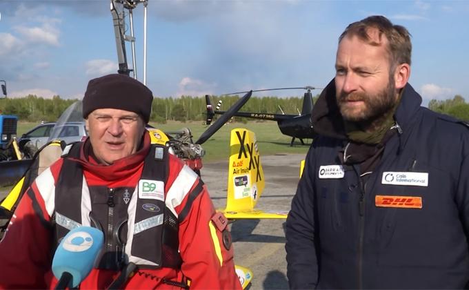Участники кругосветки на минивертолетах приземлились в Новосибирске