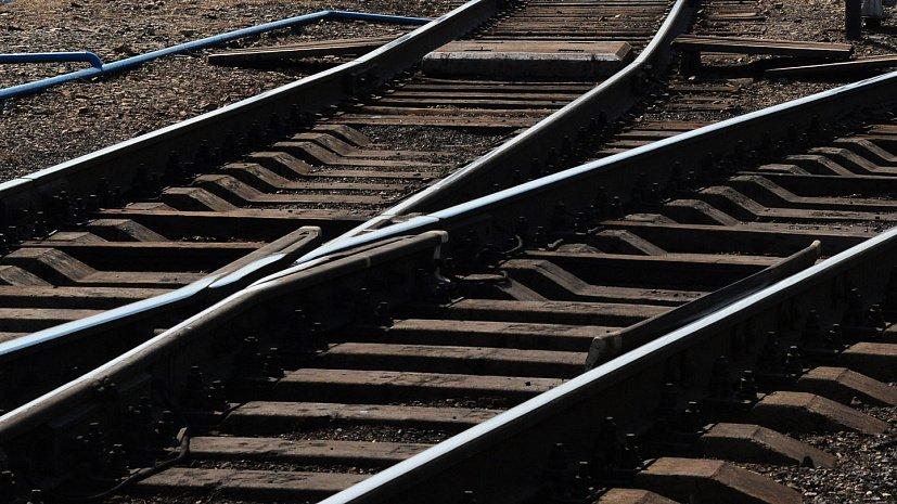 Грузовой поезд остановился на 10 минут из-за сидящего на рельсах человека