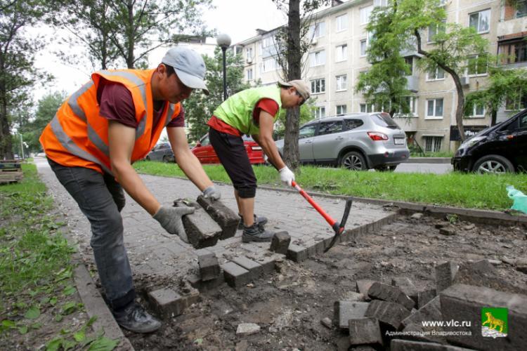 Во Владивостоке на Тополиной аллее начался ремонт