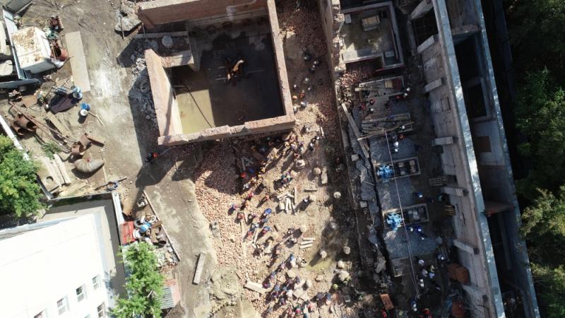 Задержаны подозреваемые в обрушении здания на Ударной