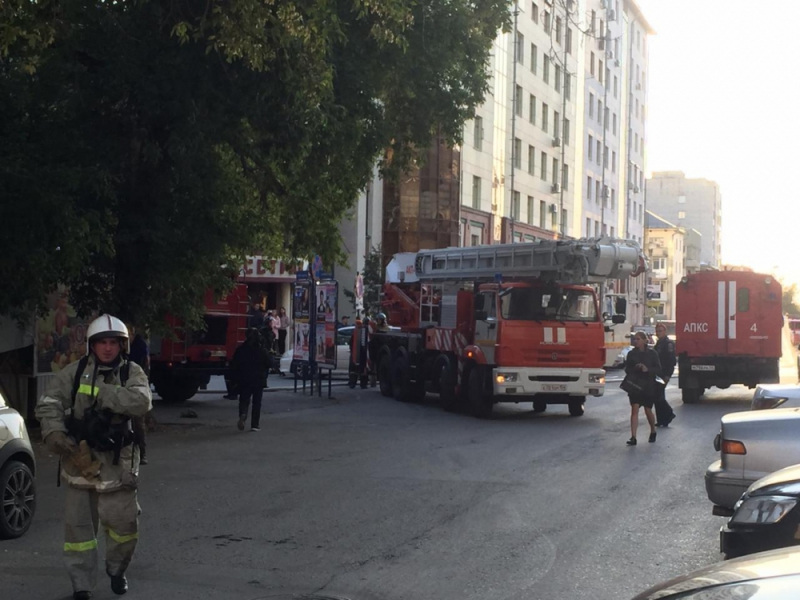 Пожар на Советской парализовал центр Новосибирска
