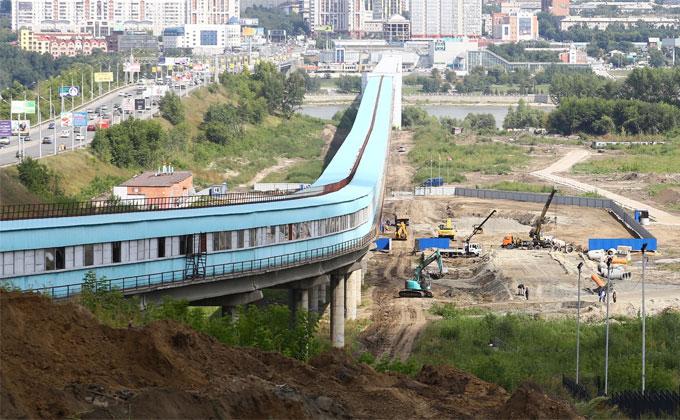 Пешеходный переход соединит обе стороны Октябрьского моста