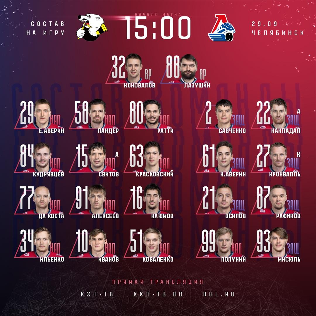 Текстовая трансляция матча КХЛ между «Трактором» и «Локомотивом»