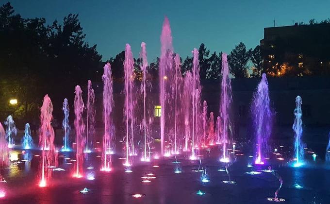 Сухой фонтан запустили в Центральном парке