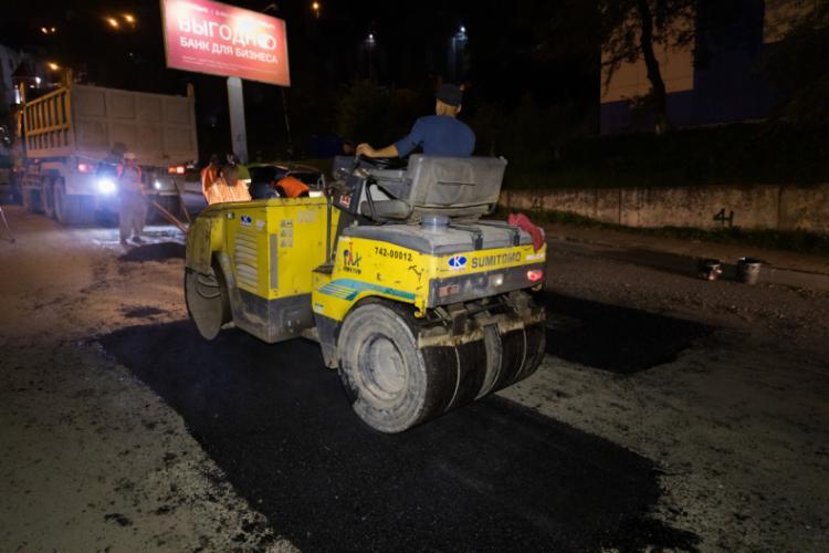 Восстановительный ремонт дорог продолжается во Владивостоке