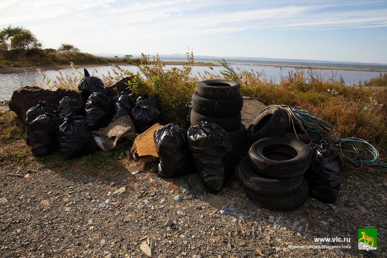 Жители Владивостока активно принимают участие в субботниках