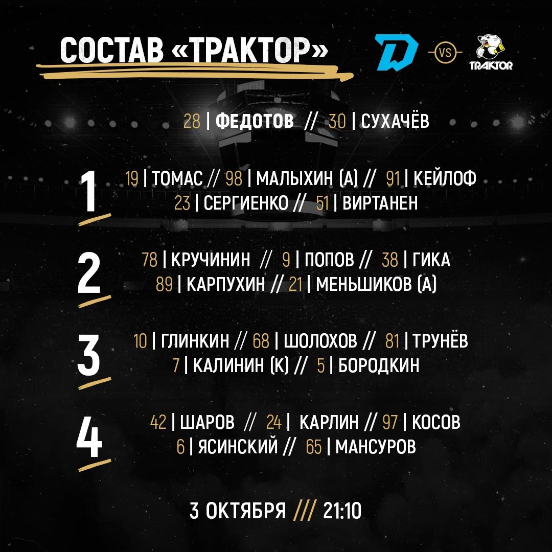 Текстовая трансляция матча КХЛ между минским «Динамо» и «Трактором»