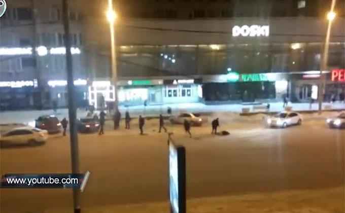 Побоище устроили посетители бара в центре Новосибирска