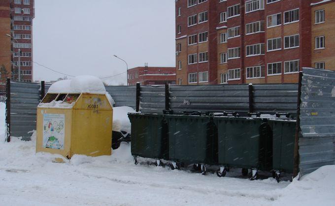 Как вывозят мусор в районах Новосибирска после 1 января