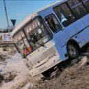 ПАЗик улетел в кювет – водитель сбежал с места аварии