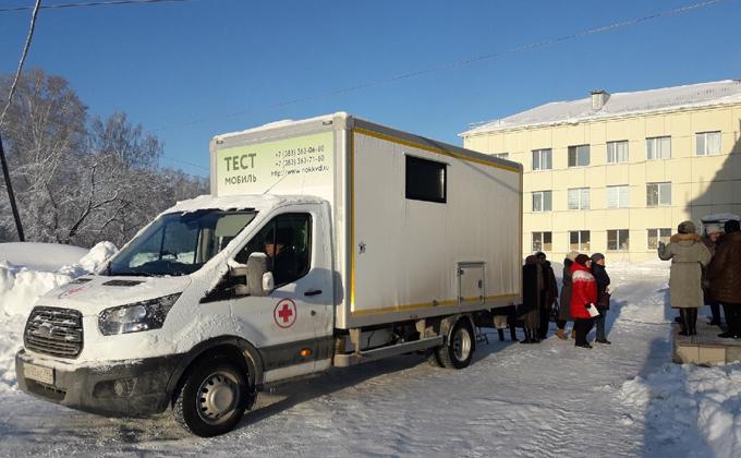 Тест-мобиль «Вместе против рака» в Новосибирске : расписание на март 2020