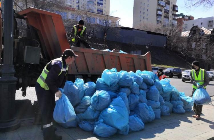 Во Владивостоке продолжается санитарный двухмесячник