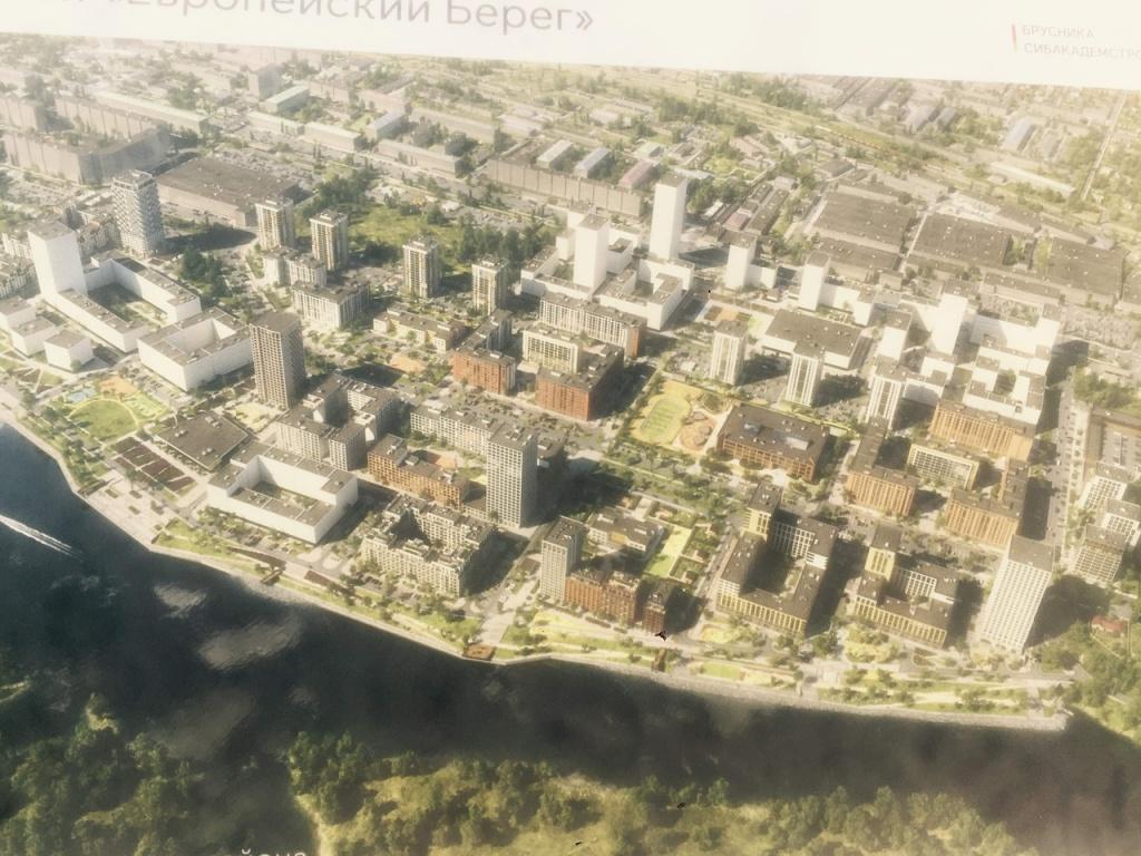 Набережную Оби начали строить в микрорайоне «Европейский берег»