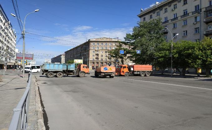 Список перекрытых улиц 20 июня на репетиции Парада Победы в Новосибирске