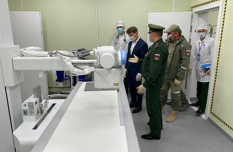 Губернатор Приморья осмотрел новый госпиталь Минобороны в Уссурийске