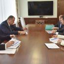 Губернатор Травников и руководитель УК «Сибантрацит» Катерина Босов обсудили сотрудничество
