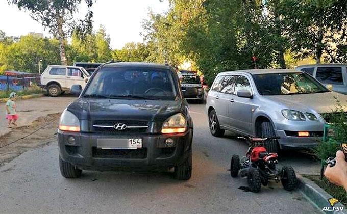 Попавший в ДТП на детском квадроцикле мужчина развеселил новосибирцев