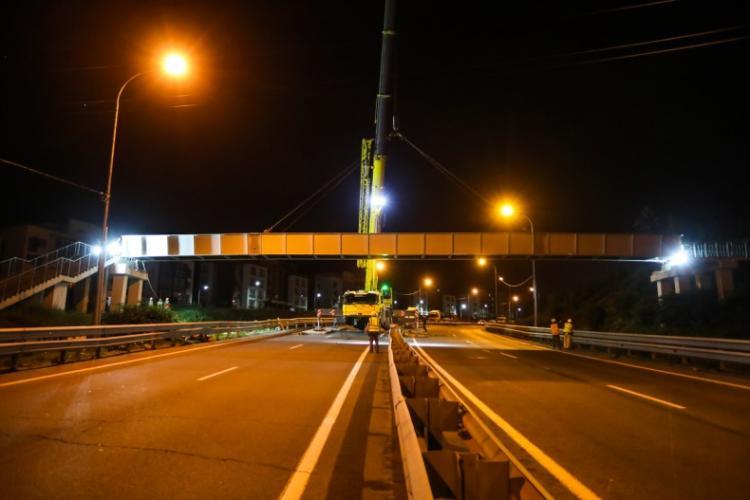 Во Владивостоке после ДТП восстановлен надземный переход