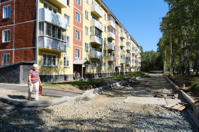 Все дворы отремонтируют в 2021 году в поселке Гвардейский