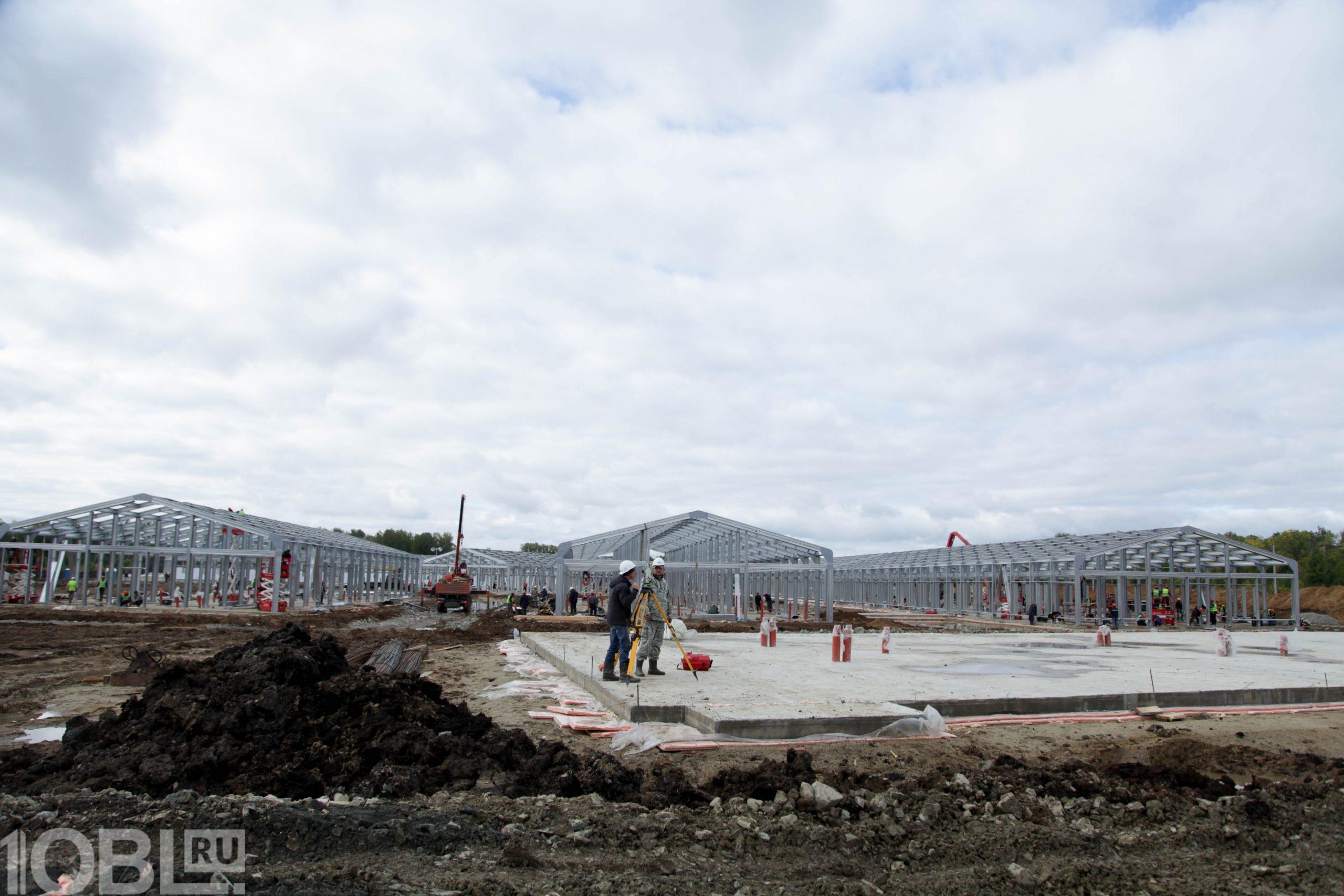«Быстрыми шагами»: в Челябинске продолжается стройка инфекционного центра