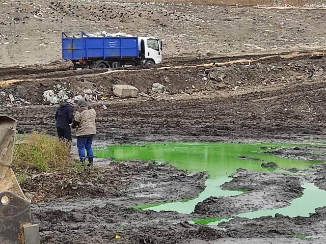 Происхождение «зеленых озер» выясняли на полигоне «Левобережный»