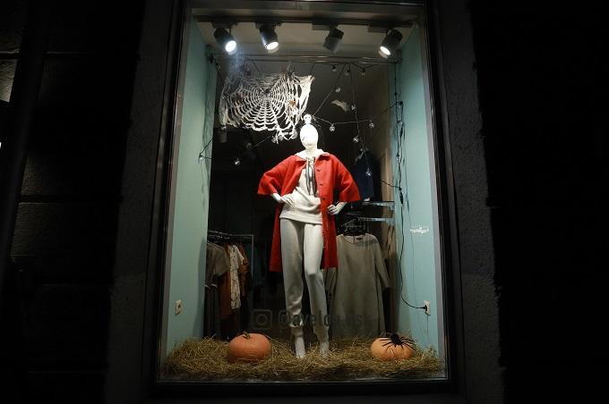 Новосибирск украсили к Хэллоуину во время буйства COVID-19