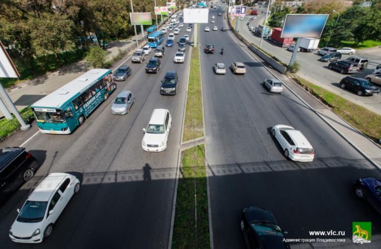 На проспекте 100-летия Владивостока изменится схема дорожного движения