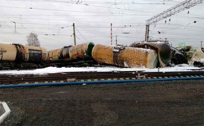 Крушение потерпел состав из 30 вагонов в Новосибирской области