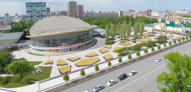 Проект благоустройства пространства у цирка представили новосибирцам