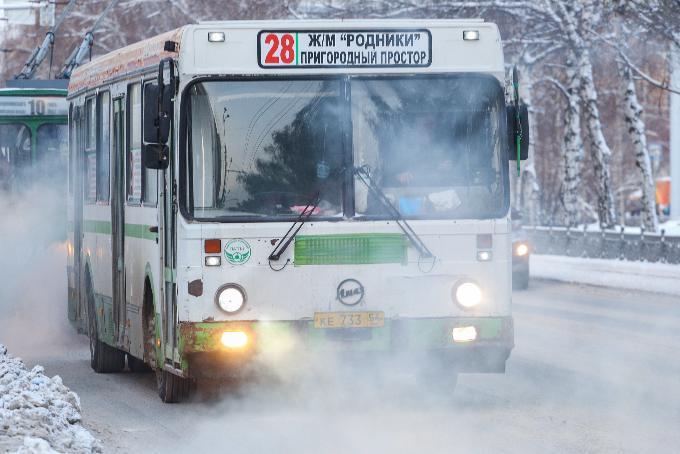 Пересесть на общественный транспорт призвали новосибирцев