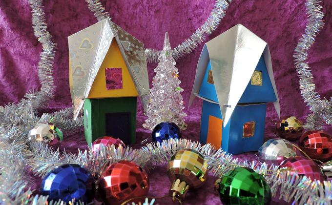 Новогодний домик своими руками – пошаговая инструкция