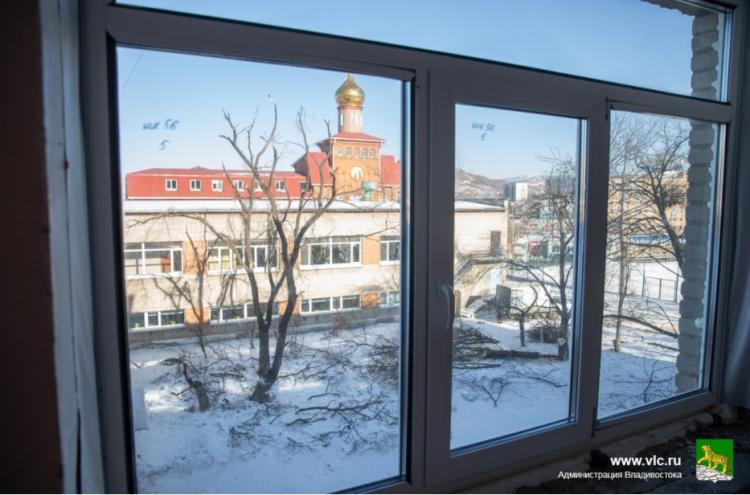 Новые окна установлены в 46-ти школах Владивостока