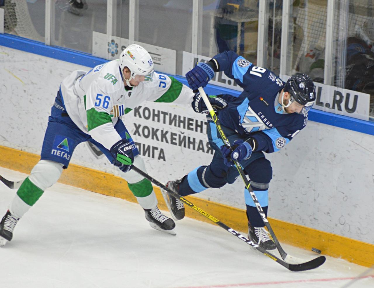 Хоккейная «Сибирь» начала 2021 год с разгромного поражения в Нижнекамске