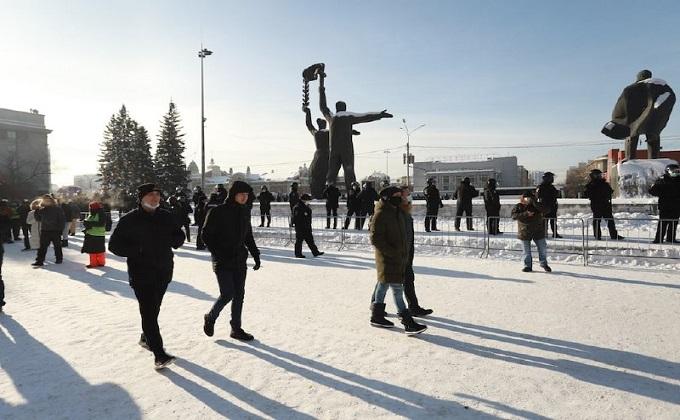 Названо точное число задержанных незаконного митинга 31 января в Новосибирске