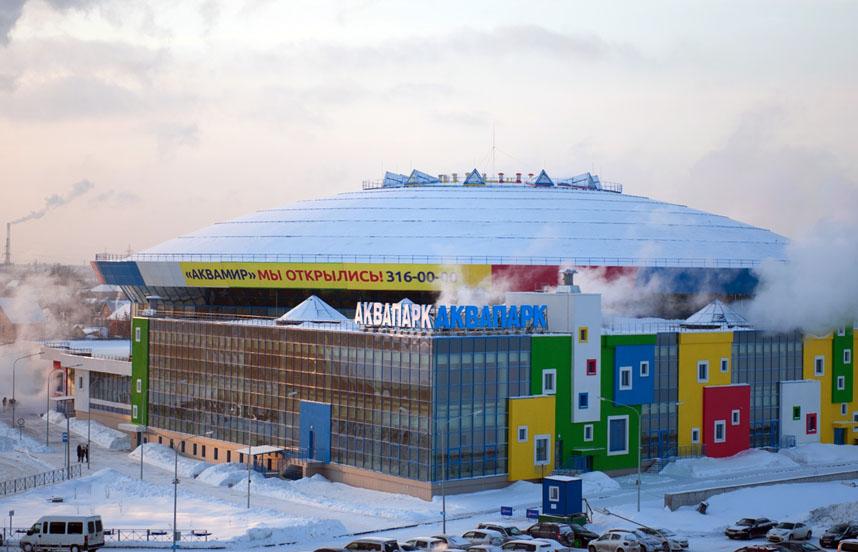 Остались ждать на тридцати градусном морозе десятки посетителей Новосибирского аквапарка
