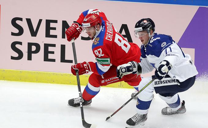 Финские хоккеисты «Сибири» не помогли Суоми обыграть Россию на Шведских играх