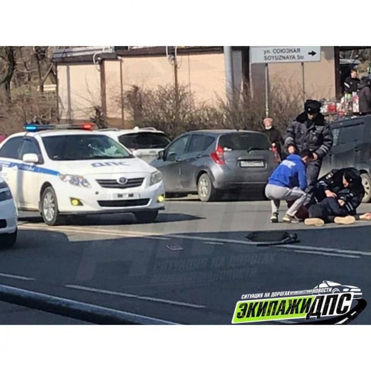 Полицейские на служебной машине сбили ребёнка во Владивостоке