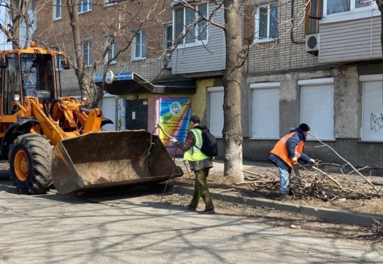 Во Владивостоке продолжают вывозить упавшие ветки и деревья с улиц города