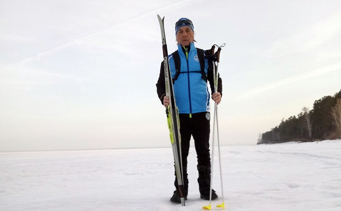 Летчик разглядел огромную надпись на льду Обского моря