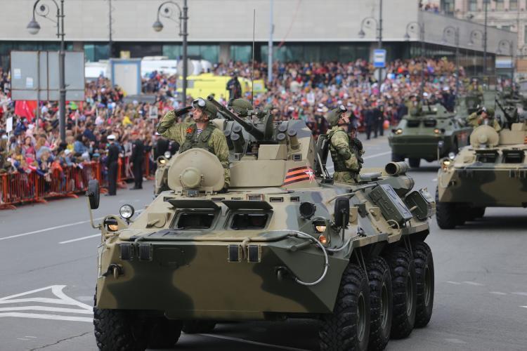 Во Владивостоке ночью пройдёт репетиция парада Победы