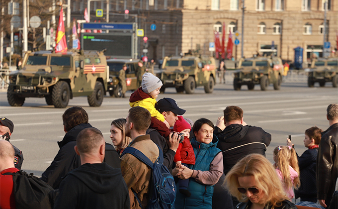 Репетиция Парад Победы в Новосибирске 5 мая: фоторепортаж