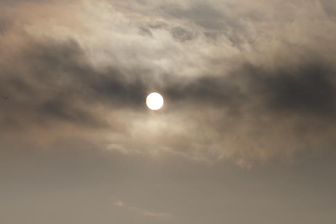 Смог накрыл небо над Новосибирском