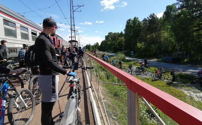 Бесплатно перевозить велосипеды в электричках могут новосибирцы с 1 июня