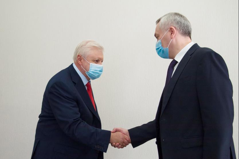 Рабочие встречи с лидерами российских политических партий провел Андрей Травников