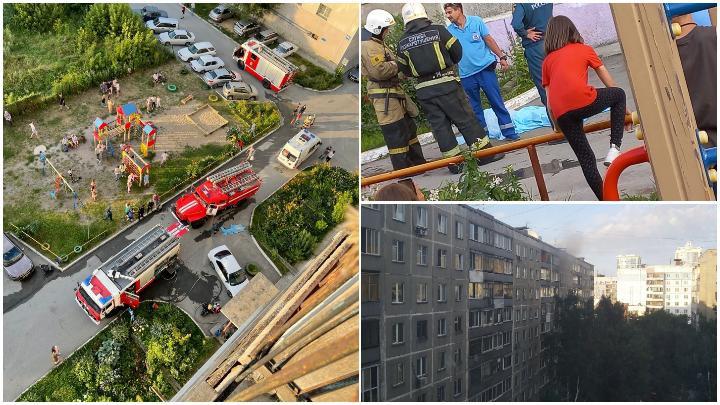 Жильцов многоэтажки на Линейной эвакуировали из-за пожара в Новосибирске