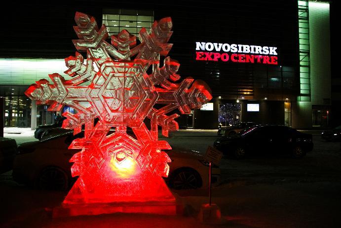 Гигантская снежинка появится на границе Новосибирской области