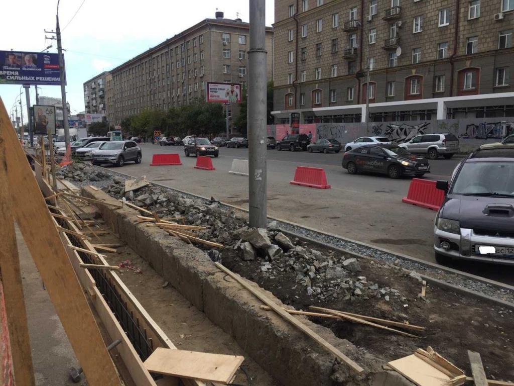 Велодорожки и живая изгородь: зачем перерыли Вокзальную магистраль в Новосибирске