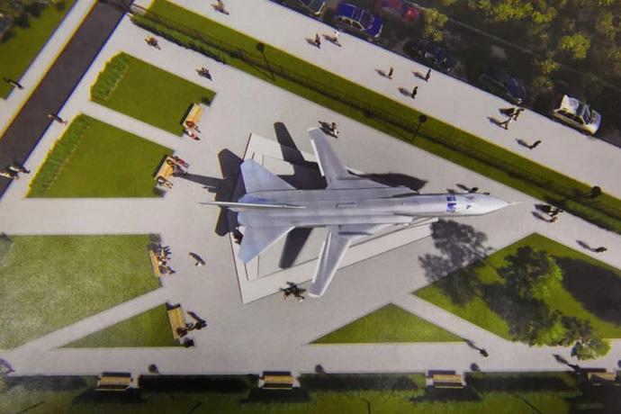 Установить бомбардировщик Су-24 в сквере готовятся в Новосибирске