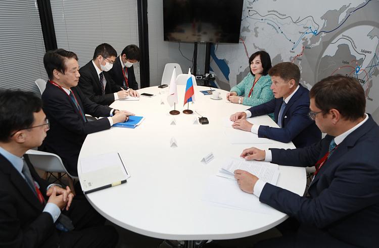 Олег Кожемяко обсудил перспективы сотрудничества с японским послом